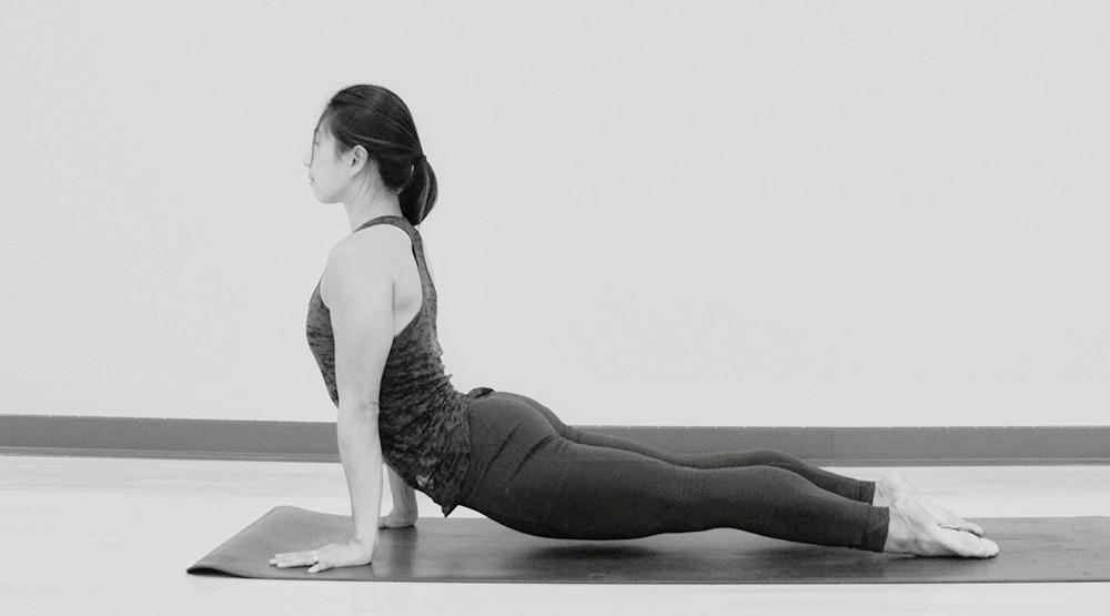 A woman doing a yoga pose