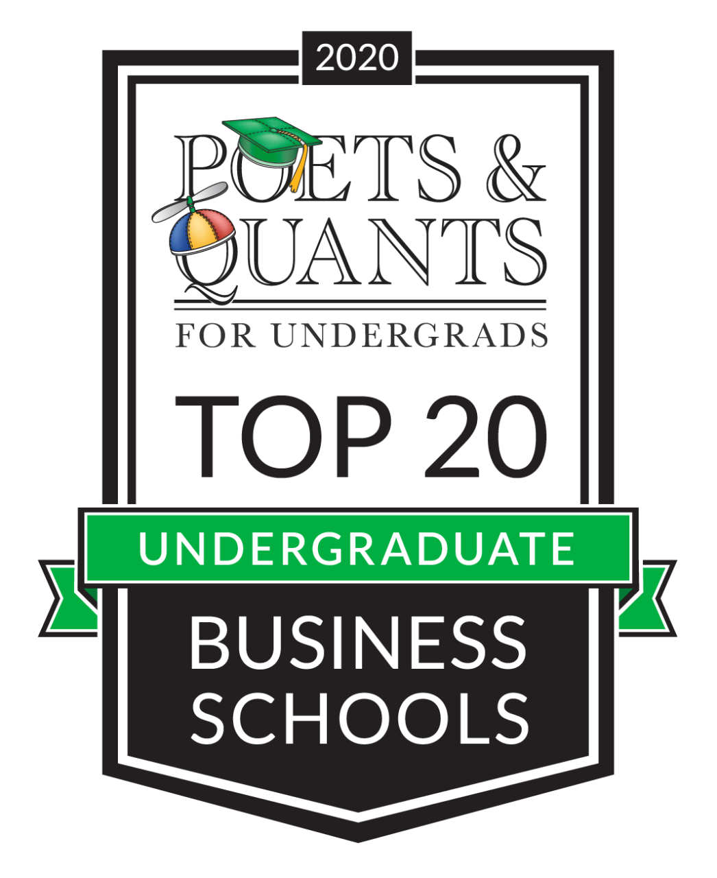 "Banner which reads ""Poets & Quants For Undergrads Top 20 Undergraduate Business Schools"""