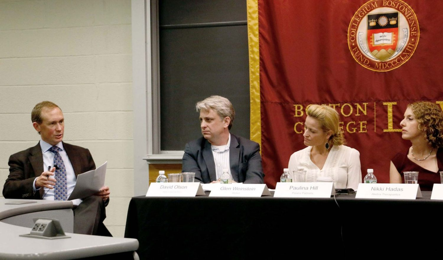 Panel participants with Olson