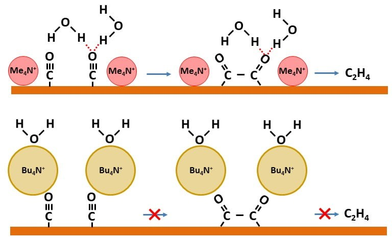 Hydrogen Bonding Steers the Product Selectivity of Electrocatalytic CO Reduction