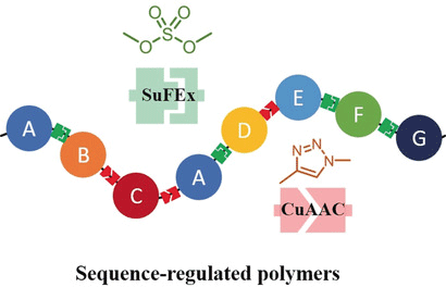 Facile Synthesis of Sequence‐Regulated Synthetic Polymers Using Orthogonal SuFEx and CuAAC Click Reactions