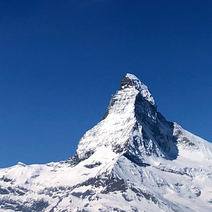 A view of the Matterhorn taken in Zermatt, Switzerland, by Piper McGavin '20. The mountain is at the border of Switzerland and Italy and is one of the most famous peaks in Europe.