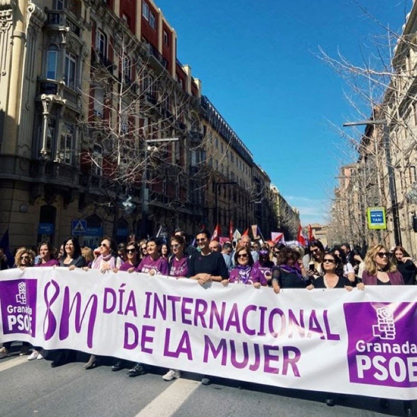 Grace Cavanagh '21 sends this photo from a march for International Women's Day in Granada, Spain.