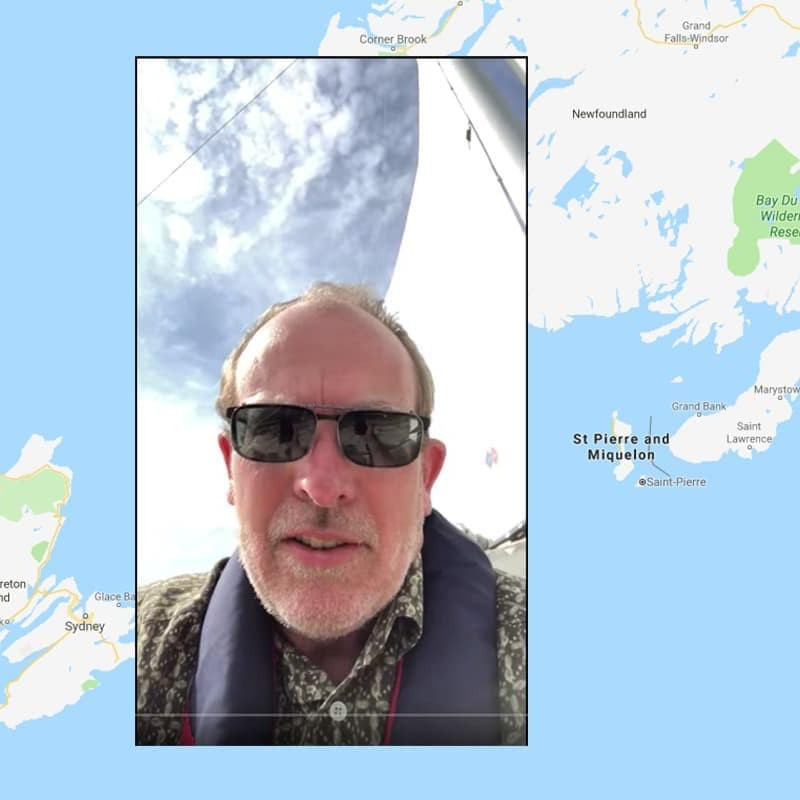 Professor Paul Christensen sends a video postcard from a boat in Newfoundland
