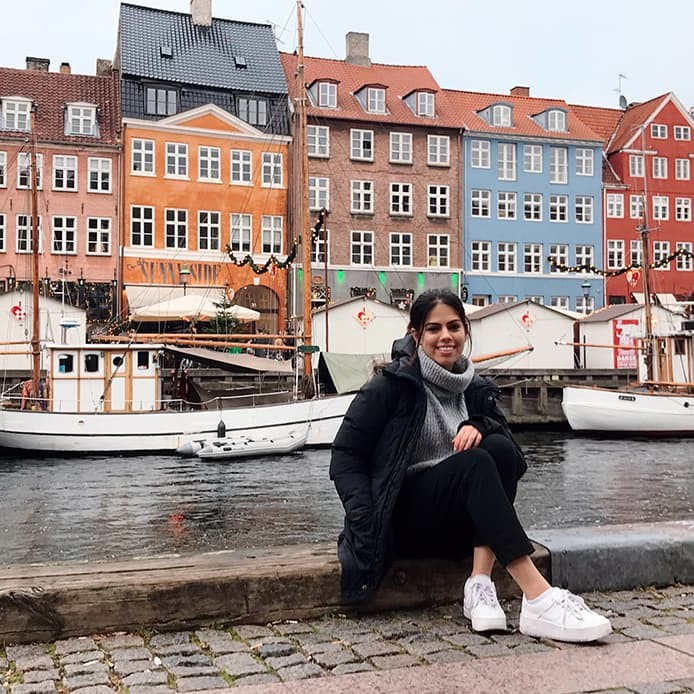 Mahima Menghani '21 sends this postcard from Copenhagen, where the famous Nyhavn canal's colorful townhouses have an equally colorful history as a hangout for sailors to drink and enjoy the city between their travels.