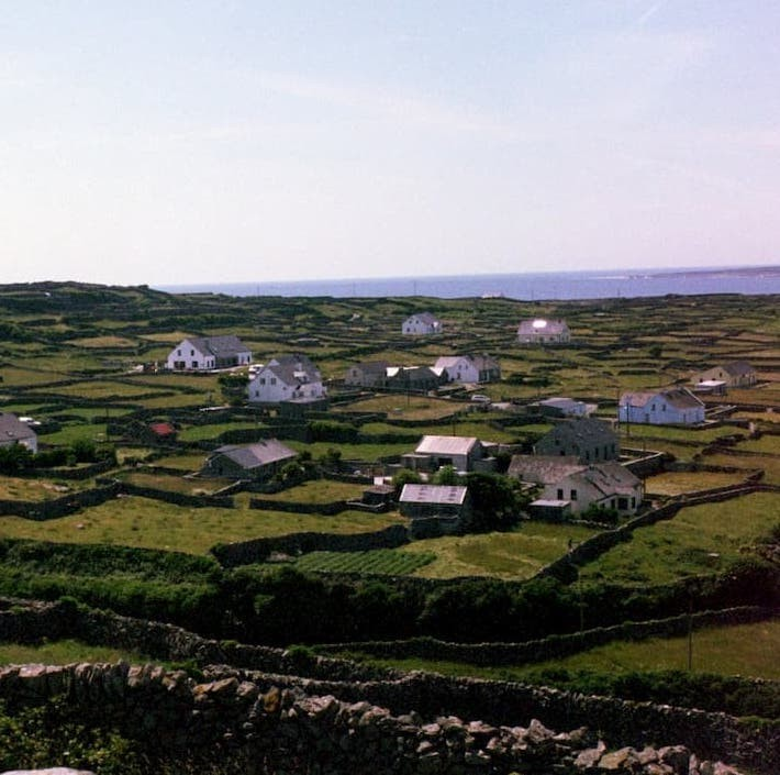 Sophia Fox '20 sent this postcard of traditional Galway rock walls on Inisheer, Aran Islands