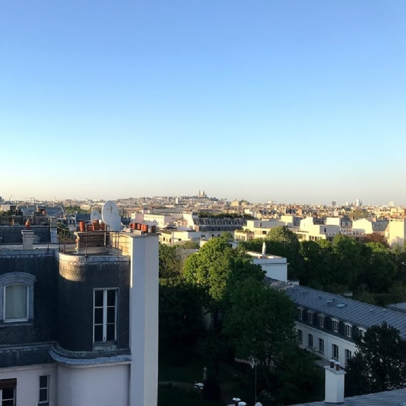 Patrick O'Connell '20 captures the late afternoon view of Montmartre from his home-stay apartment in Paris, France.