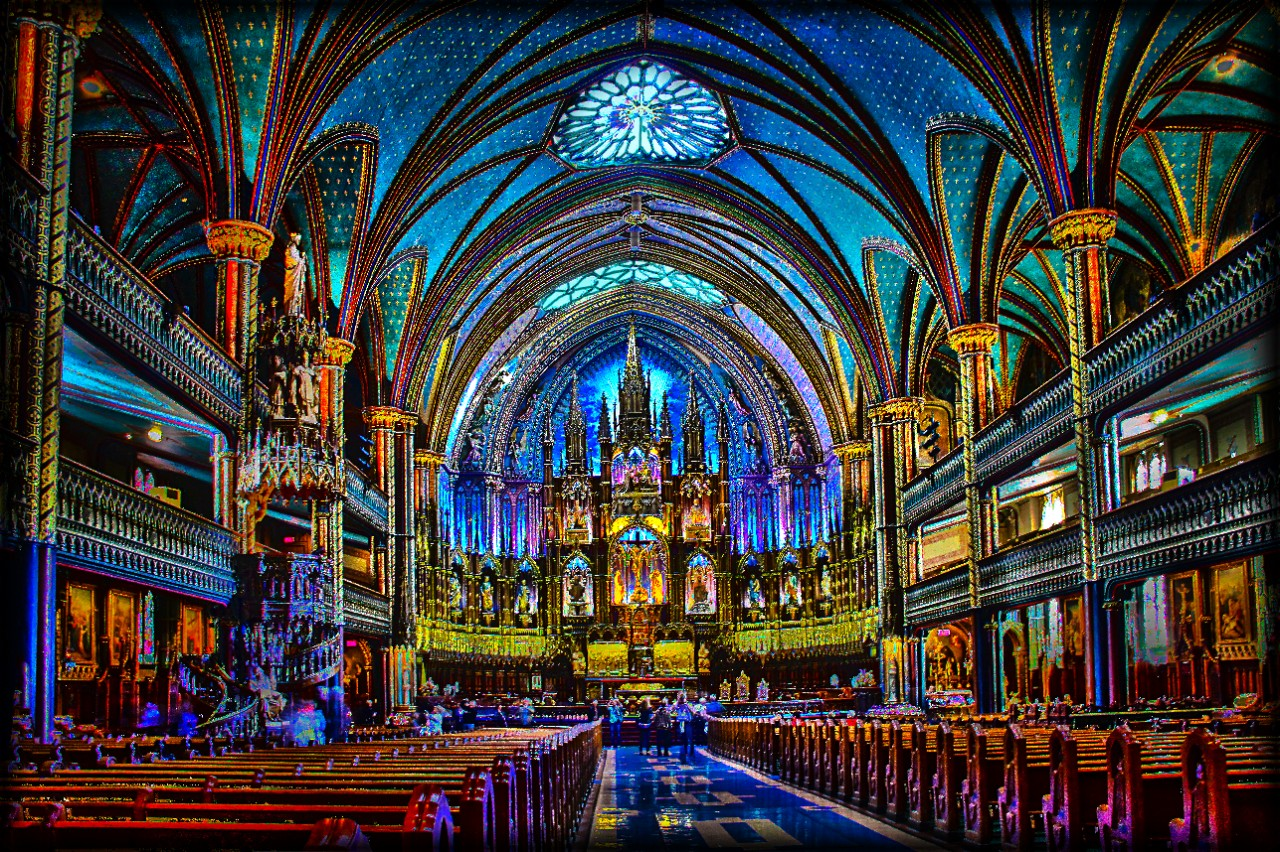 Color image of the inside of a church