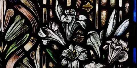 lilies in stained glass