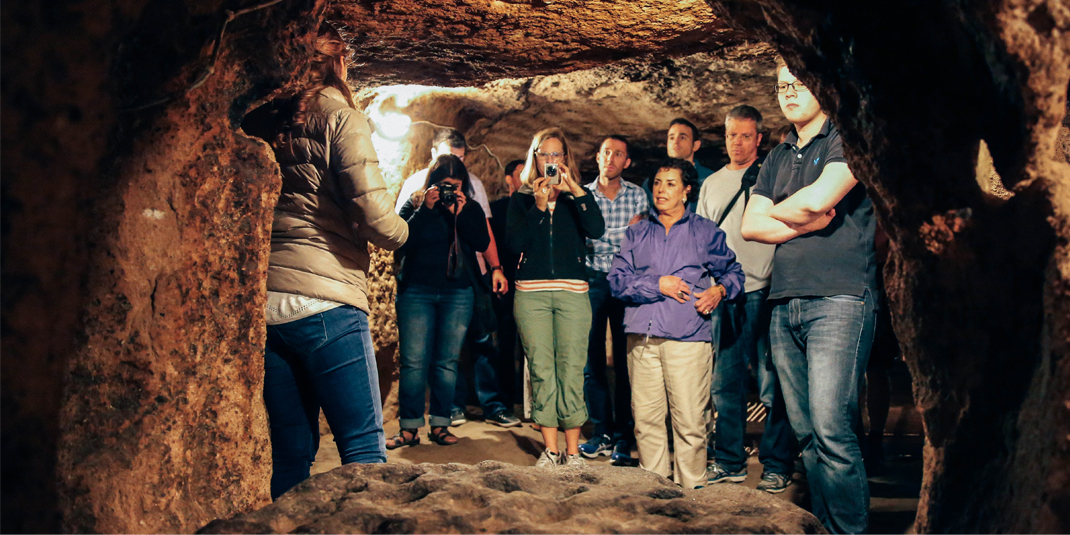 Faculty touring the underground city