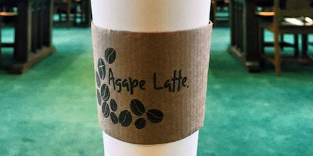 Agape Latte coffee cup