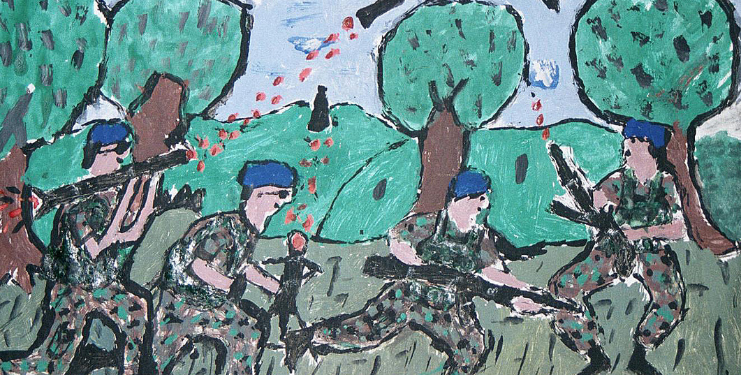 Artwork of former child solider