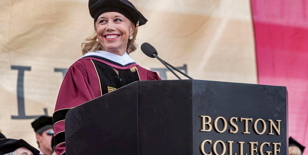 Boston College Graduation 2020.Commencement Boston College