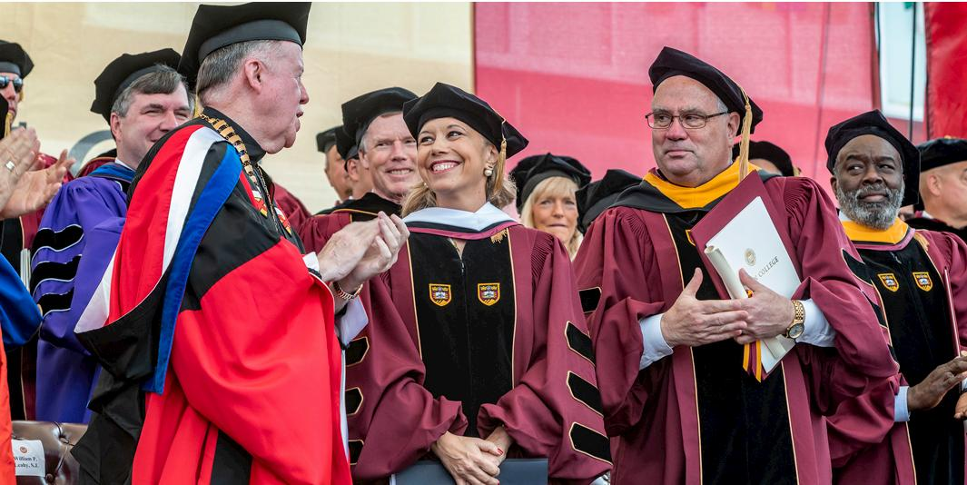 Boston College honorary degree recipient - Commencement 2019