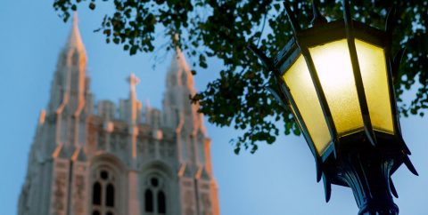 Gasson tower with lamp