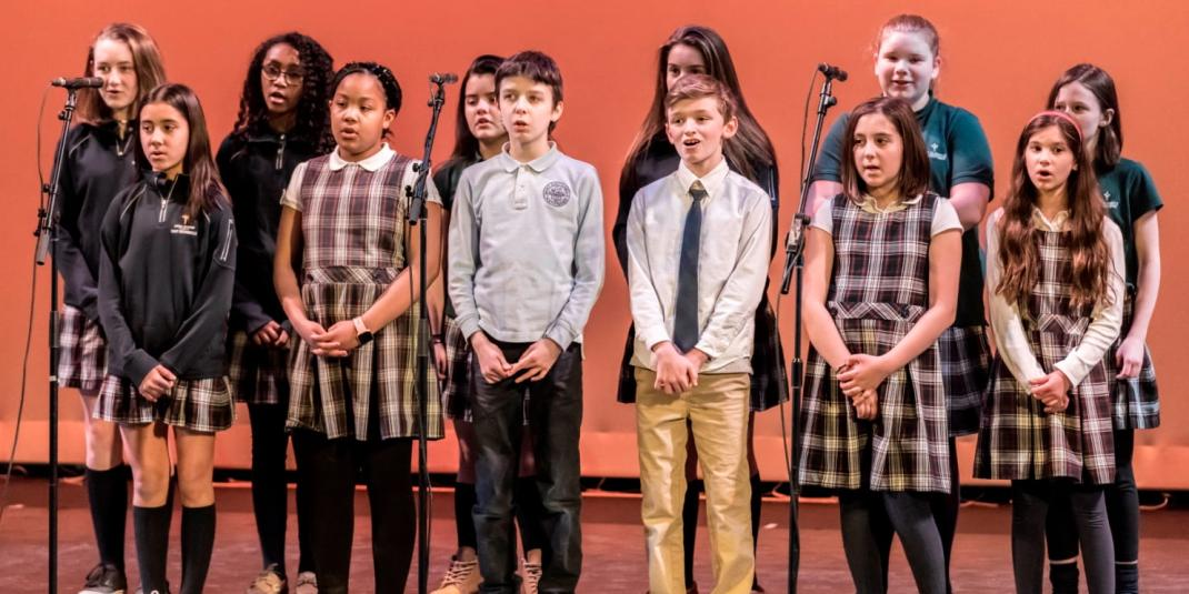 St. Columbkille students singing
