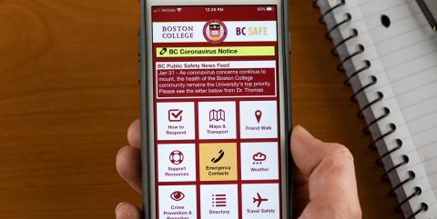 BC Safe app on a smartphone