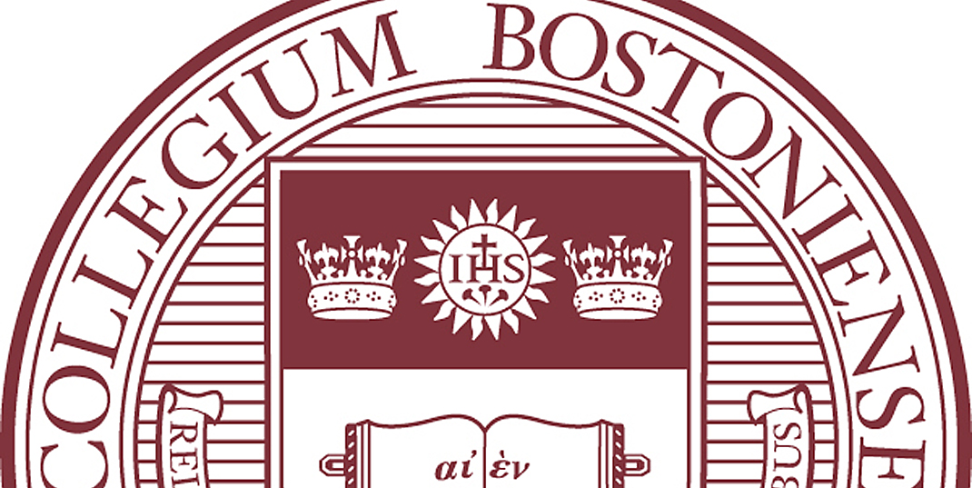 Boston College seal - section