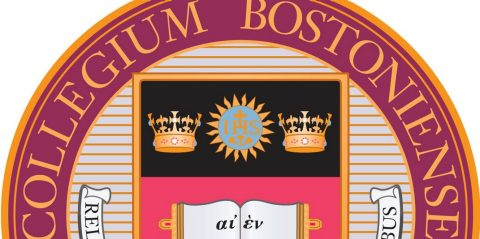 Boston College seal; section