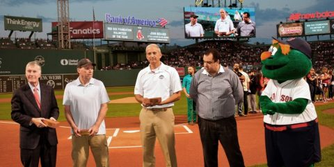 Red Sox Foundation Volunteer of the Year ceremony