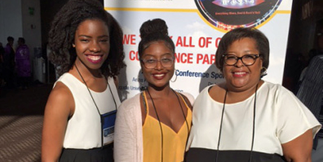 Chiamaka Okorie '17, KILN alumna Jennifer Etienne '12, and Dr. Allyssa Harris at the NBNA conference in Memphis, TN