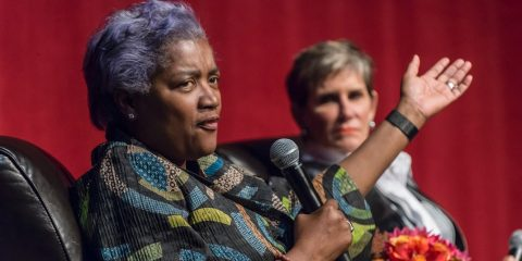 Donna Brazile and Mary Matalin at Council for Women of Boston College Colloquium