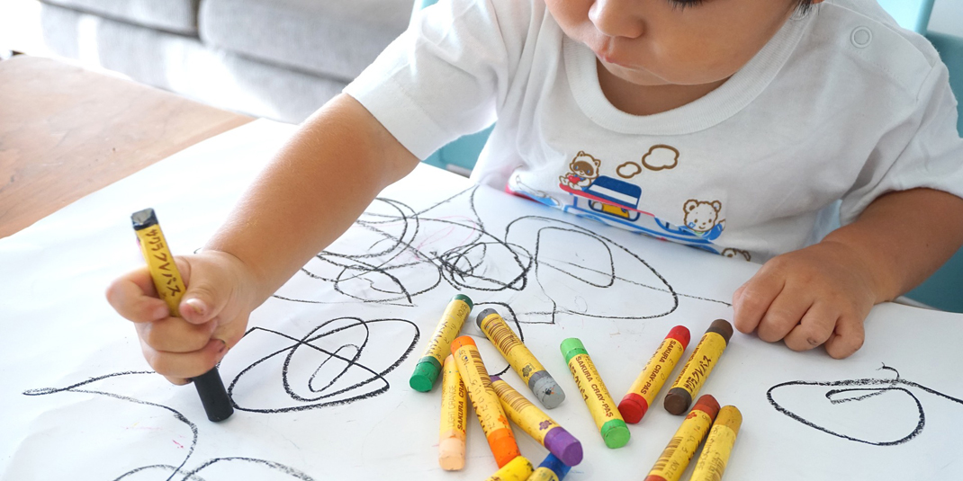 A child drawing