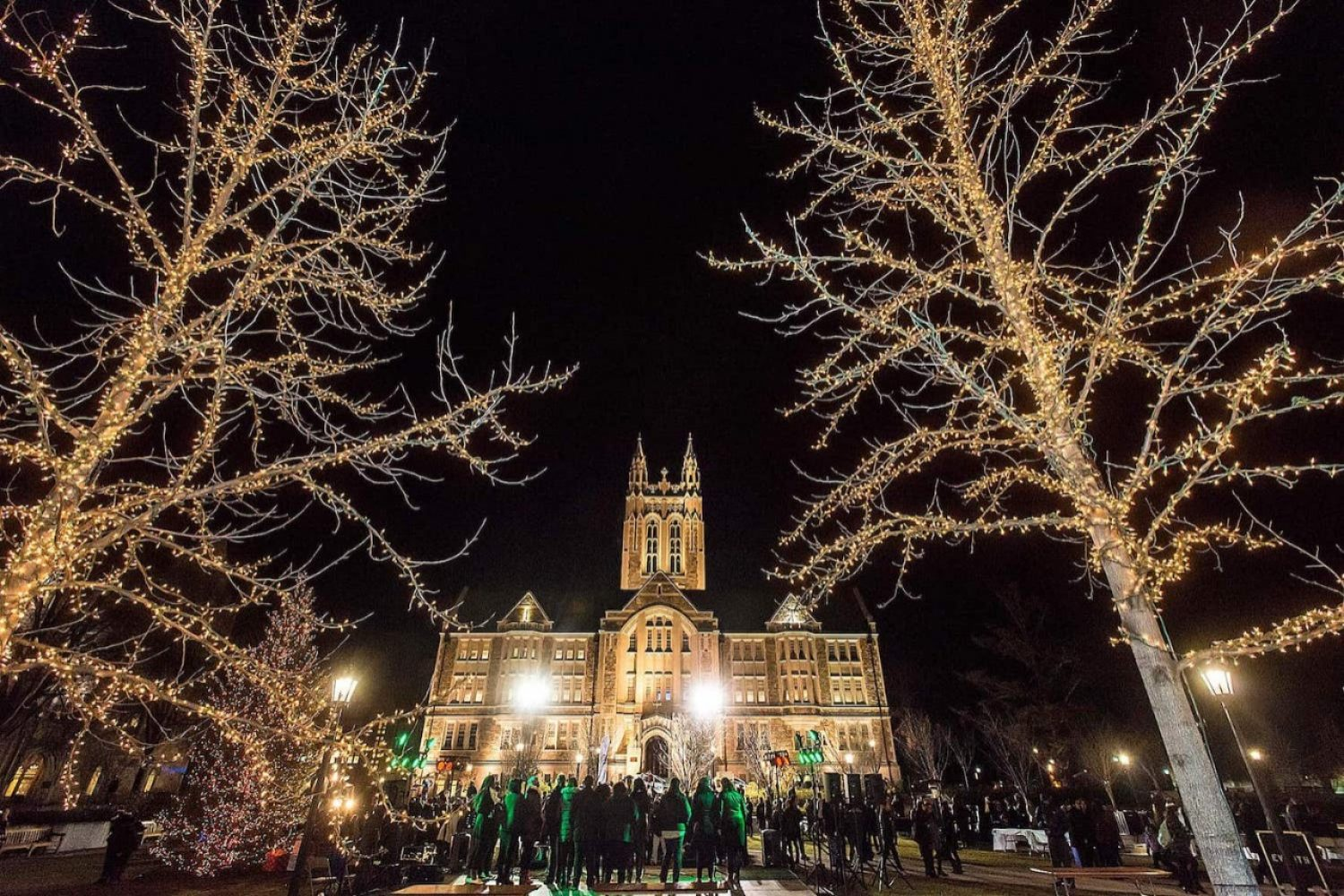 Gasson Hall at Christmas