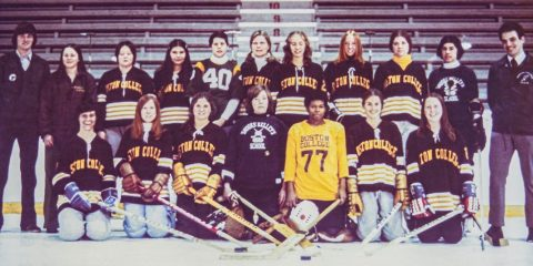 Photo of early BC women's hockey team
