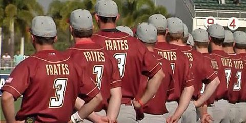 Frates' No. 3 jersey will be retired
