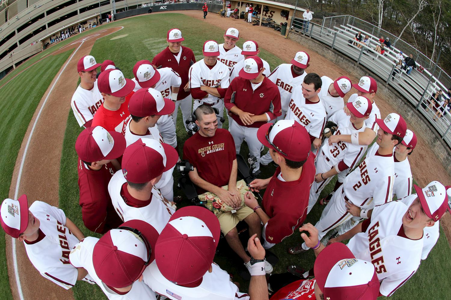 Pete Frates and baseball team