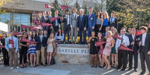 Gabelli Plaza dedication
