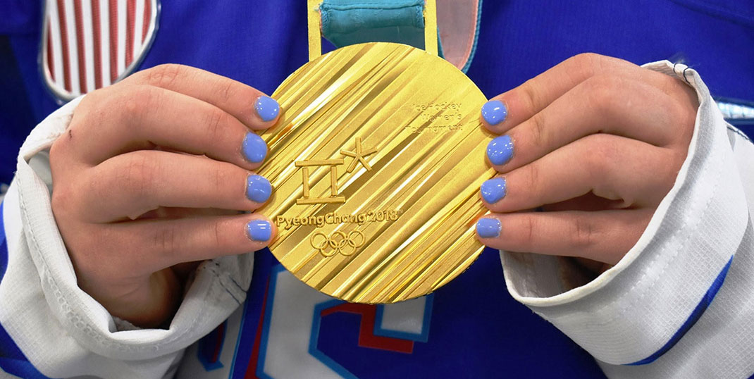 An Olympic gold medal
