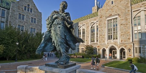 St. Ignatius Loyola statue at Boston College