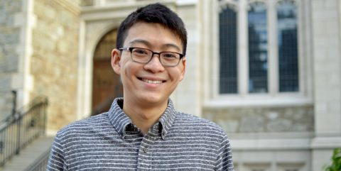 Boston College Churchill Scholarship winner Jesse Mu