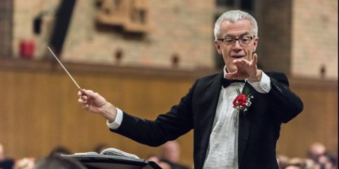 John Finney conducting the BC Symphony Orchestra
