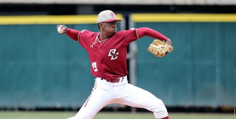 Baseball America All-American Justin Dunn of the BC Eagles