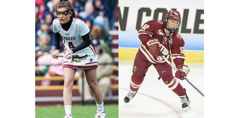 BC's Kenzie Kent LAX by Mike Gridley&#x3b; hockey by Joe Puetz