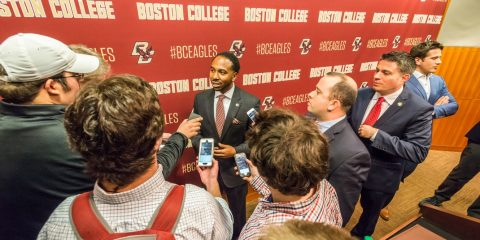 Martin Jarmond press conference at Boston College