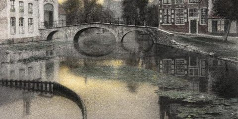 "Fernand Khnopff's ""Memory of Bruges. Entrance to the Beguinage"" from ""Nature's Mirror: Reality and Symbol in Belgian Landscape"""