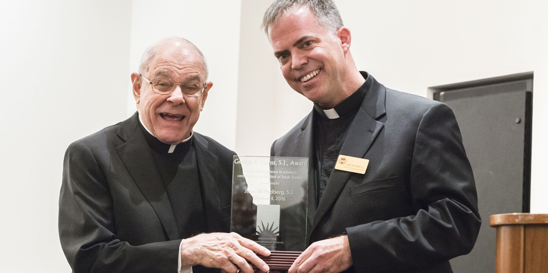 Jesuits John W. Padberg and Casey Beaumier