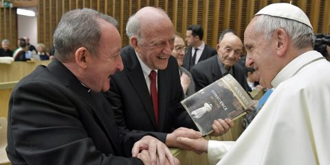 Bc faculty members with Pope Francis