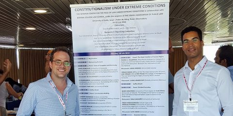 BC Law prof Richard Albert organized a constitutionalism conference in Israel.