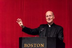 Fr. James Martin, S.J. delivers the Daniel J. Harrington, S.J. Lecture (Lee Pellegrini)