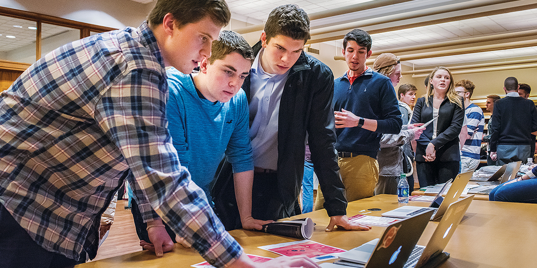 Students view new software at Demo Day