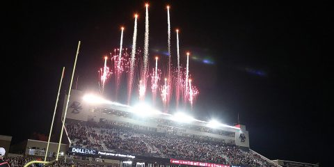 Fireworks at Alumni Stadium