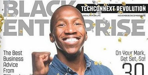 BC alumnus Sulaiman Sanni on the cover of Black Enterprise magazine