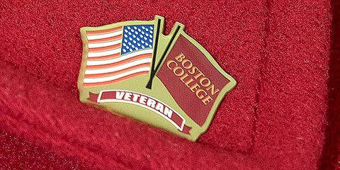 Boston College veterans commemorative lapel pin