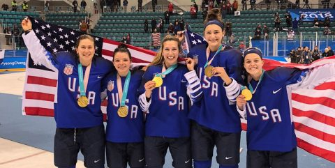 Team USA in women's hockey