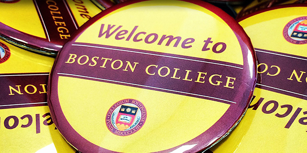 Welcome to Boston College buttons